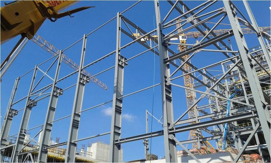 konstrukcja stalowa budynku maszynowni
