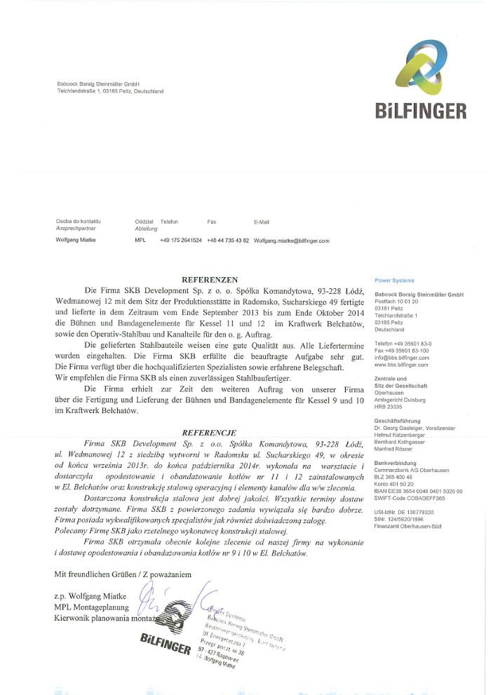 referencje BBS SKB
