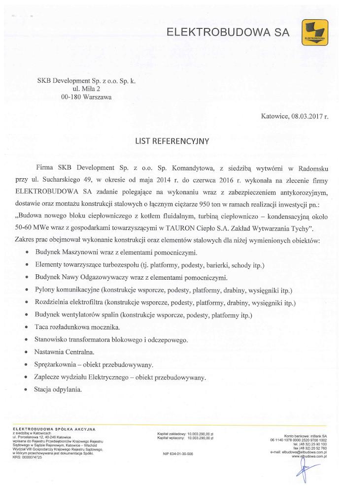 referencje Elektrobudowa